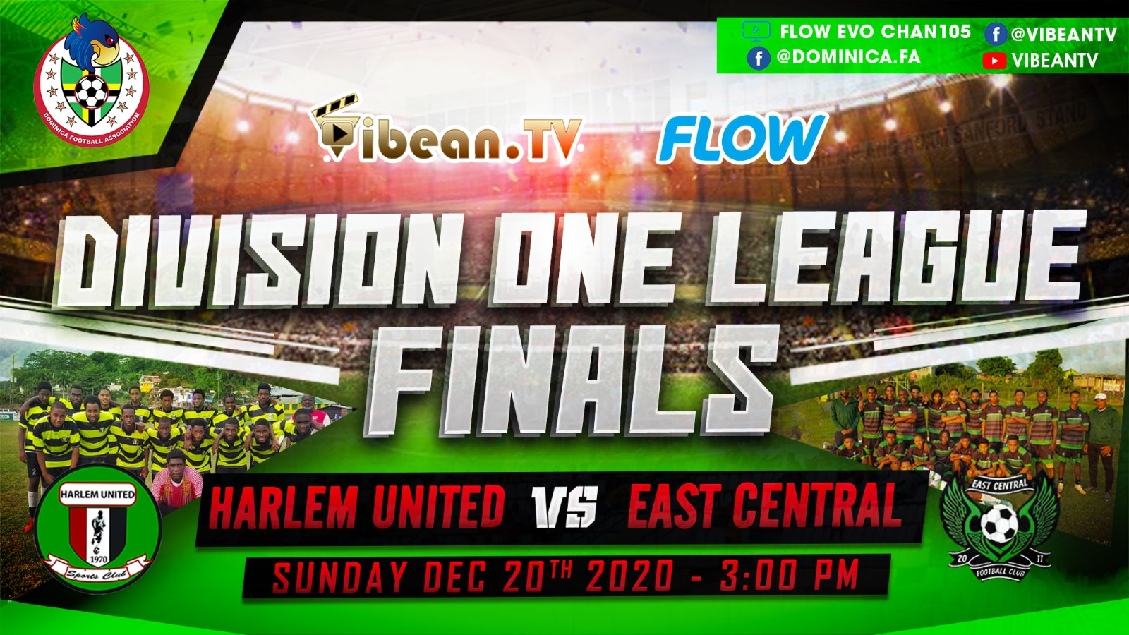 Harlem United F.C v East Central F.C  – Division One Finals 2020